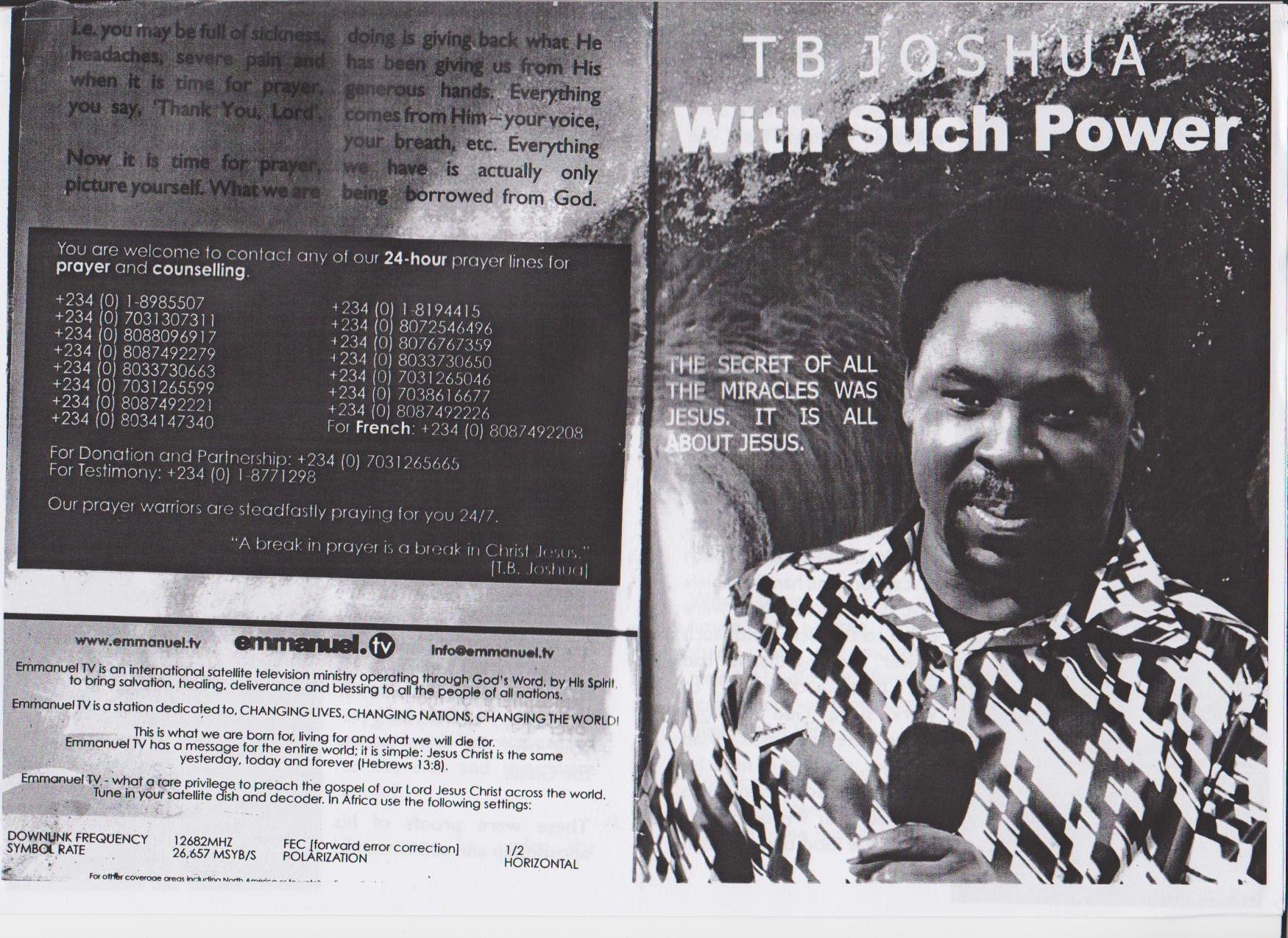 With Such Power(ful lies) | TB Joshua Watch
